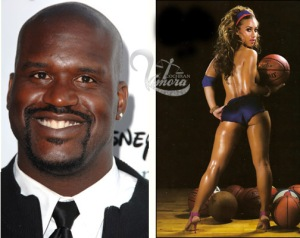 That would Shaq and his girlfriend right! good